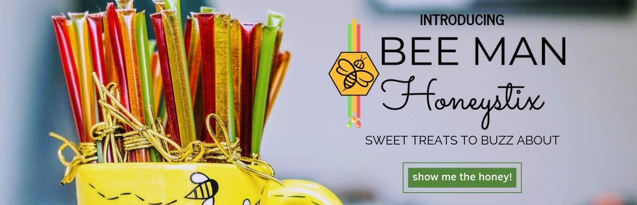 Bee Man Honeystix Banner